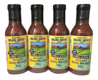 Organic Harvest Gluten Free Hot & Spicy Honey Mustard Sauce BBQ